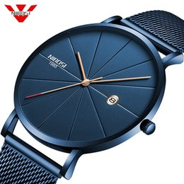 $enCountryForm.capitalKeyWord Australia - Nibosi Simple Mens Watches Top Brand Luxury Clock Quartz Watch Men Slim Mesh Steel Waterproof Sport Watch Relogio Masculino Saat Y19051703