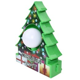 painting sets for children UK - DIY Christmas Tree Rotate Drawing Ball Set Electric Painting Machine Christmas Decoration Kids Electric Toys for Children Gift
