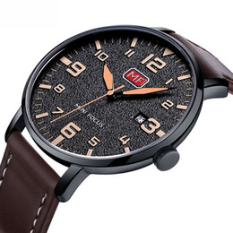 f1d9f9ac6fbe 2019 hombres ultra delgado reloj deportivo de cuarzo hombres marca de lujo  analógico fecha reloj masculino correa de cuero militar reloj de pulsera