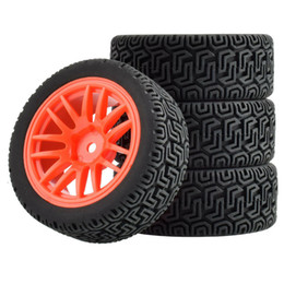 Discount tamiya cars - RC 9062-8014 Grip Tires and Wheel 4PCS For HSP HPI Tamiya 1 10 1:10 Touring Car
