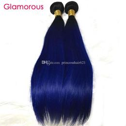 $enCountryForm.capitalKeyWord Canada - Glamorous Brazilian Ombre Hair 3 Bundles Blue Ombre Human Hair Extensions Straight Body Wave Peruvian Indian Malaysian Hair Weaves Bundles