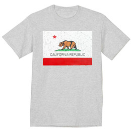 shorts for tall men Australia - 5XLT - Big and Tall shirt for men California flag decal tee bigmen clothes Short Sleeve Plus Size t-shirt