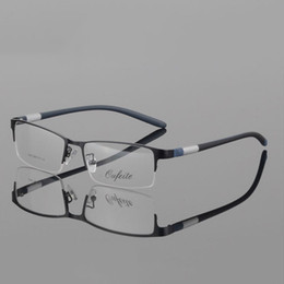 7732453aa40 Coyee New Sports Eyeglasses Fashion Men Square RX Spectacles Half-rim  Computer Goggles Myopia Luxury Prescription Eyewear