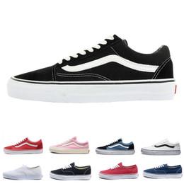 Original Vans old skool Sk8 zapatos de lona para hombre para mujer  zapatillas de deporte clásico negro blanco rojo moda Skate Casual Shoes  tamaño 36-44 652a5e7f132