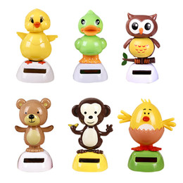 Ornament decOratiOns online shopping - Duck Little Bear Ornament Owl Chick Car Decoration Solar Energy Toy Cm Cute Automatic Swaying Cartoon bja D1