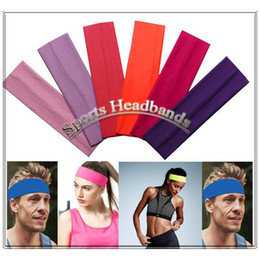 $enCountryForm.capitalKeyWord NZ - 2 inch Sports Cotton Stretch Headbands Running Yoga Sweat Hair Bands 35 color