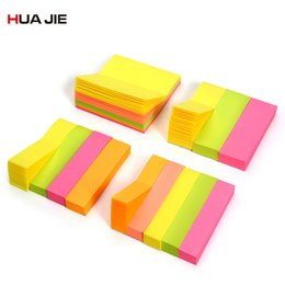 stationery note pad UK - Memo Pad Bookmarks Fluorescent Color Sticky Notes School Supplies Paper Stickers Memo Notebook Stationery Planner Sticker H30300