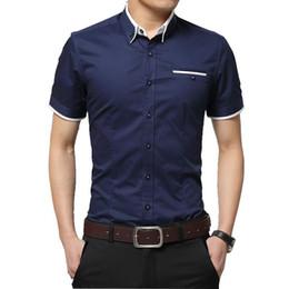 Big Collared Shirts Australia - Tfetters New Arrival Brand Men's Summer Business Short Sleeves Turn-down Collar Casual Shirt Men Shirts Big Size 5xl Q190518