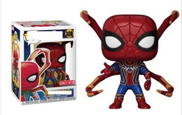Discount men popping toys - Iron Spider Man Avengers Infinity War #300 Funko Pop Marvel Comics Vinyl Figure
