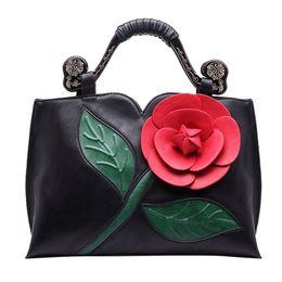 $enCountryForm.capitalKeyWord Australia - OCARDIAN New Fashion Women Retro High Quality Leather Handbag Classic Rose Tote Ethnic Wind Shoulder Bag Bolsa das senhoras J24