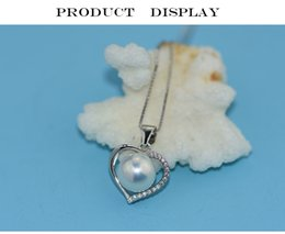 $enCountryForm.capitalKeyWord Australia - new 925 Sterling Silver jewelry for women 8-9mm Natural Freshwater Pearl Necklace Pendants for office women