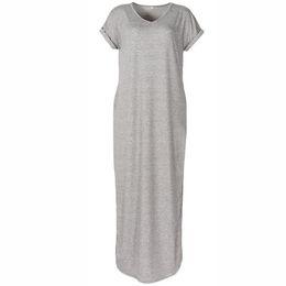 72613e028fc Loose Beach Casual Dresses Women Summer Long Maxi Dress 2019 Short Sleeve  Pockets Sexy Side Split Plus Size Robe GV828