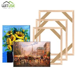 Bar Paintings Australia - DIY Wooden Canvas Frame For Oil Painting Canvas Print Painting Frames Gallery Stretcher Bar Christmas Decoration For Home