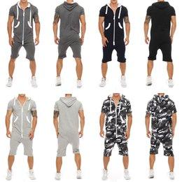 Wholesale pant shirt one piece resale online – Stylish Men Short Sleeve Shirts Pants Romper Jumpsuit One Piece Shorts Playsuits