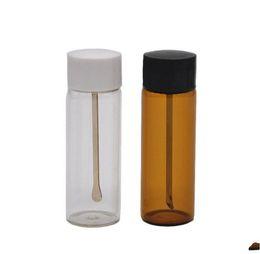 $enCountryForm.capitalKeyWord UK - Newest Colorful Snuff Bottle Snorter Box Pill Storage Powder Glass Store Spoon Portable Multiple Uses High Quality Innovative Design 500pcs