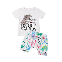chemises grand frère achat en gros de-news_sitemap_homeMode Famille correspondant à Toddler Boy Grand Petit Frère Dinosuar Imprimer T shirt Shorts Outfit Summer Big Boys Vêtements Vêtements Ensemble