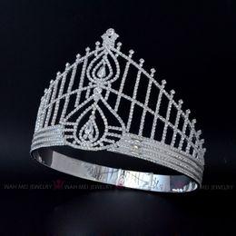 $enCountryForm.capitalKeyWord Australia - Tiaras And Crowns For Women Bridal Wedding Australian Rhinestone Tiara Hairwear Pageant Crown Miss Beauty Hair Accessories