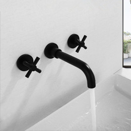 $enCountryForm.capitalKeyWord Australia - Faucet wholesale Wall Mounted Concealed faucet Hot and cold mixing Triple tap Copper material Suitable for kitchen use