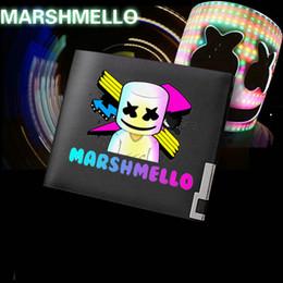 Опт Marshmello кошелек Крис Комсток кошелек лучшие DJ доткомов короткое наличные внимание случае деньги notecase биржа кожаный мешок карта держатели