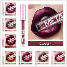 $enCountryForm.capitalKeyWord Australia - Cross-border special for MISSYOUNG metal-colored liquid lipstick lip gloss non-sticking cup Lip Glaze makeup pearlescent beauty makeup