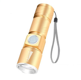 $enCountryForm.capitalKeyWord NZ - Zoomable led Q5 Flashlight torch outdoor Flash Light hiking camping portable mini Lamp USB charger flashlights torches includ 18650 battery