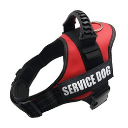 walking harnesses for large dogs NZ - Harnesses Dog Harness Service Dog K9 Reflective Harness Adjustable Nylon Collar Vest for Small Large Dogs Walking Running Pets Supplies