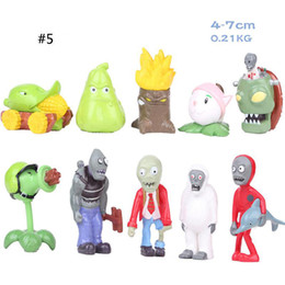 zombie toy dolls 2020 - Plants VS Zombies Version 5 Action Figures PVC Zombies PVC Cartoon Anime Doll 10pcs set Collection Toy For Children M023
