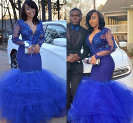 c9caea8cc27 Lavender mermaid tuLLe prom dresses online shopping - Black Girls Royal  Blue Prom Dresses Sheer Long