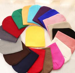 $enCountryForm.capitalKeyWord Australia - Baby Kids Hats Boys Girls Caps Candy Colors Toddler Baby Boy Girl Warm Soft Crochet Cute Hat Cap Beanie KKA6996