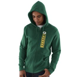 Hoodie caps online shopping - 2019 Men Green Bay Sweatshirt Packers Salute to Service Sideline Therma Performance Green Black Hyper Stack Full Zip Hoodie