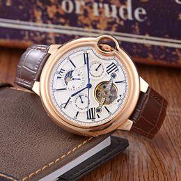 $enCountryForm.capitalKeyWord Australia - Luxury Watches BALLON Series Famous Brand C T R Circular Hollow Dial Leather Starps 1904 PS Automatic Mechanical Watch