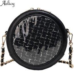 $enCountryForm.capitalKeyWord NZ - Aelicy 2019 Women's Fashion Circular Jelly Transparent Bag Package Woven Messenger Bag Shopping Tote Handbags For Women 2019