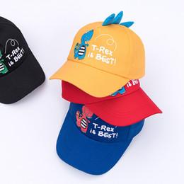 Swimwear Infant Australia - Baby T-Rex Dinosaur Baseball Cap Boy Girl Beach Bucket Sun Hat Infant Toddler Summer Trucker Hat Adjustable Snap Back Animal Swimwear Hat