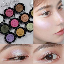 Pink shimmer eyeshadow online shopping - Eyeshadow Shimmer Monochrome Glitter Eyes Makeup Nude Long lasting Pigment Cosmetic Waterproof Matte Red Eye Shadow