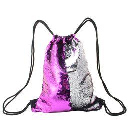 $enCountryForm.capitalKeyWord NZ - Women Sequin Drawstring Backpacks Girls Glittering String Shoulder Soft Bling Bags Backpack Ladies Outdoor Travel Beach Bags