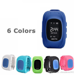 gps tracker for kids wholesale Canada - Hot Sell Smart Watches Q50 GPS Tracking for Child Kid smart Watch SOS Safe Call Location Finder Locator Trackers for Kids Children Xmas