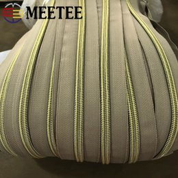$enCountryForm.capitalKeyWord UK - Meetee 4 8Meters 5# Nylon Coil Code Zippers Decor DIY Sewing Bags Purse Garment Zip Material Accessories Colorful Available