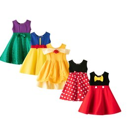 $enCountryForm.capitalKeyWord Australia - Highquality 2019 Girls Clothing Cosplay Snow White Princess Dress Belle Birthday Dresses Mermaid Kids Halloween Costume