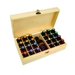 25 Slots Wooden Essential Oils Box Solid Wood Aromatherapy Bottles Storage Case Holder from motorbike accessories suppliers