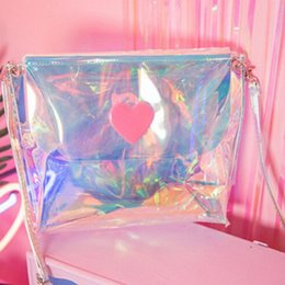 Korea Leather Man Bag Australia - Korea Star Style Wemen Holographic Teenage ladies sweet Girl Crossbody Shoulder Bag Hologram Shine Leather Laser Bag #168576