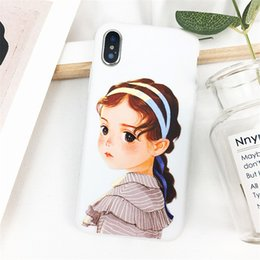 $enCountryForm.capitalKeyWord NZ - Paris Cartoon Long Hair Girl Pattern Crashproof Back Cover TPU Cell Phone Cases Protective Covers For Apple iPhone X XR XS MAX 6 6S 7 8 PLUS