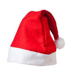 Рождество Санта-Клаус Шляпы Красный И Белый Колпачок Партия Шляпы Для Санта-Клауса Костюм Рождественские Украшения Для Детей Взрослых Рождество Шляпа 888 на Распродаже