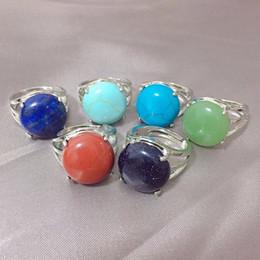 $enCountryForm.capitalKeyWord Australia - Hollow Full Ring Natural Stone Finger Rings Real Lapis Lazuli Amethysts Opal Quartz Stone Party Mid Wedding Rings Women Jewelry