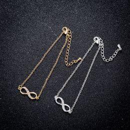 Infinity Crystals Australia - 2018 New Fashion Infinity Bracelet for Women with Crystal Stones Bracelet Infinity Number 8 Chain Bracelets Jewelry