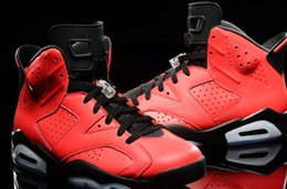 $enCountryForm.capitalKeyWord Australia - New Fashion Men's Fluorescent Red Basketball Shoes And Trainers 6S Anti-Skid Shock Absorption Sell Well Free Of Freight