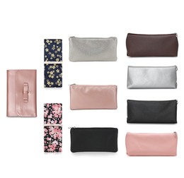$enCountryForm.capitalKeyWord Australia - 10 Styles Cosmetic Bags Faux Leather Canvas Make Bag Cosmetic Makeup Brushes Storage Bag Beauty Cosmetics Tools Mixed Color