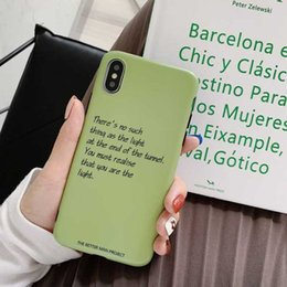 Iphone 6s Case Men Australia - Suitable For iphoneX Popular 7P phone Case iphone Xsmax Solid Color 8plus Frosted Soft Shell 6s Men and Women