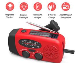 AM FM WB Solar Radio light Emergency Solar Hand Crank Power 3 LED Flashlight Electric Torch Dynamo Bright Lighting Lamp Novelty Items ZZA392 on Sale