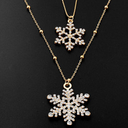 wedding gifts singapore 2019 - Statement Necklaces White Austrian Crystal Jewelry Long Design Wedding Jewelry Double Layer Snowflake Pendants Necklaces