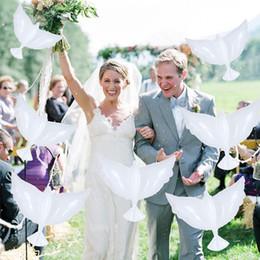 $enCountryForm.capitalKeyWord Australia - 50pcs lot 105*42cm white Peace Dove balloons Birthday wedding party decorations foil balloons Fashion supplies
